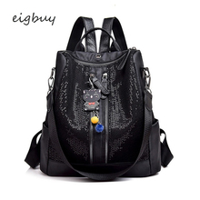 School Backpack Backpack Bag Brand Zipper Solid Lock Pu Pink Preppy Style Backpacks For Teenage Girls Mochila Notebook Bookbags shou children backpack lovely children preppy style students backpacks interior slot pocket solid