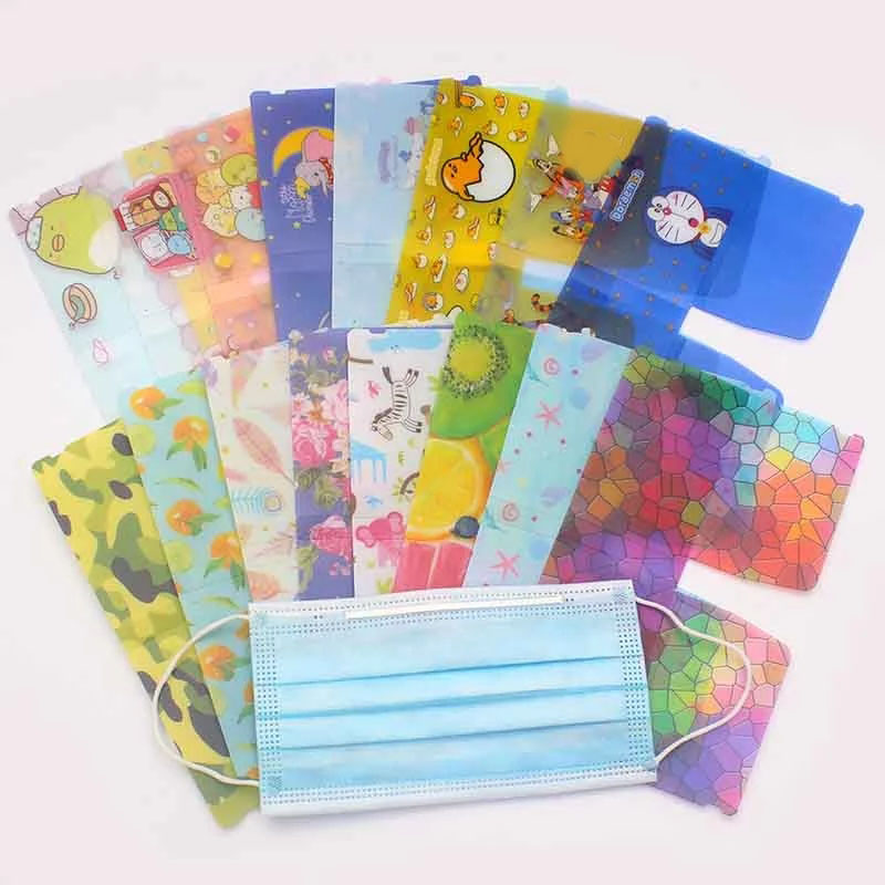 1pc-cute-flower-animals-portable-pvc-mask-clips-disposable-face-mask-storage-case-container-foldable-recycling-mask-holder