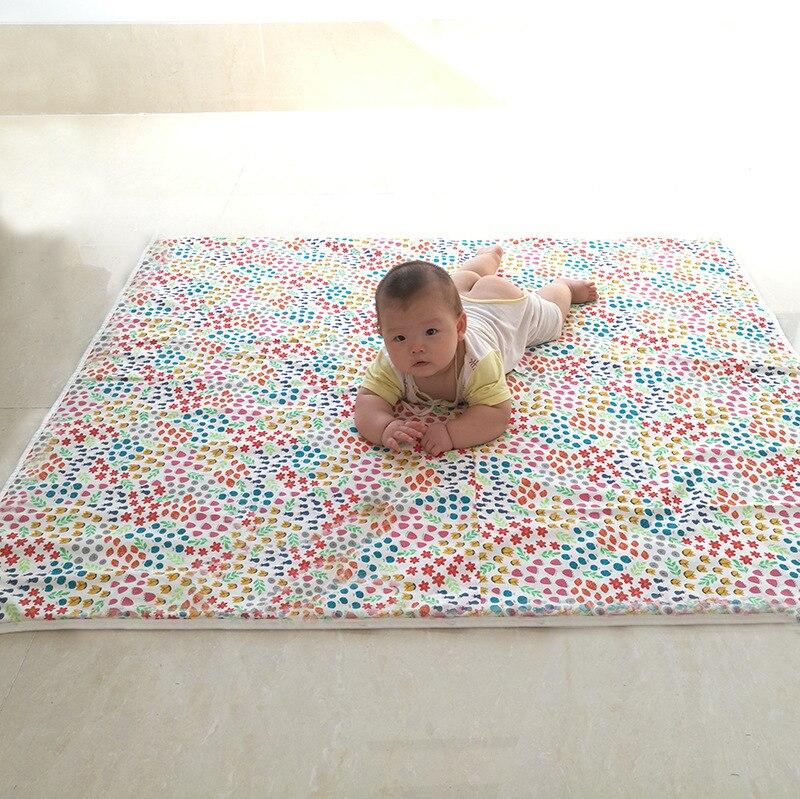 Tapis rampant pour bébé tapis anti-dérapant tapis de soutien pour tente KID'S tapis carré Floral écologique épais résistant à l'humidité