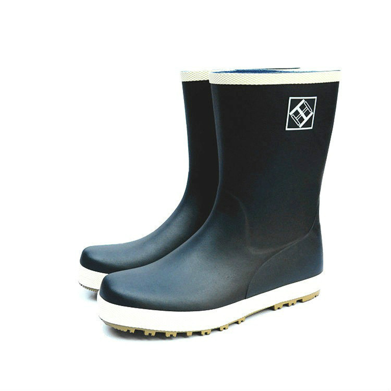 New Rubber Fishing Boots Men Rain Boots Black Gumboots With Liner  Anti-slip Waterproof Shoes Winter Galoshes
