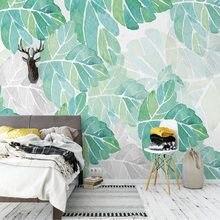 3d papel de parede para paredes nordic fresco simples folhas foto murais quarto estudo sala estar pano fundo decoração da sua casa afrescos