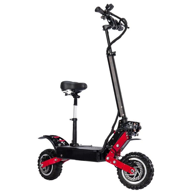 Janobike scooter électrique adulte double entraînement 60V5600W avec siège 11 pouces airbag amortissement moto électrique pédale livraison gratuite