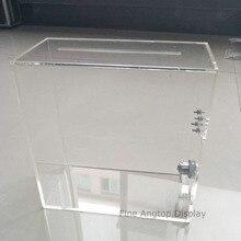 Акриловый ящик для кормления с замком прозрачное оргстекло многофункциональный ящик для хранения свадебного дисплея держатель для карт