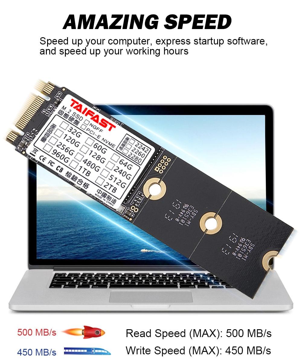 Taifast m.2 ngff sata3 SSD for laptop desktop hard disk 2242 2280 Computer Accessories 64gb 120gb 240gb 256gb 512gb 1tb ssd 3