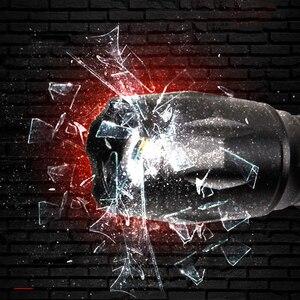 Image 4 - Тактический фонарь, светодиодный фонарь, лампа для кемпинга, лампы, водонепроницаемые, 8000lm Xm, ударопрочный, жесткий, защищенный, перезаряжаемый, T6