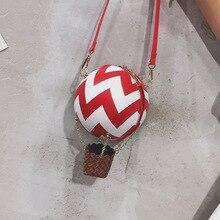 Carino Hot Air Balloon Design A Strisce di Colore Delle Donne di Modo del Sacchetto di Spalla Femminile del Sacchetto di Crossbody Borse Delle Signore e Borse Tote Bag