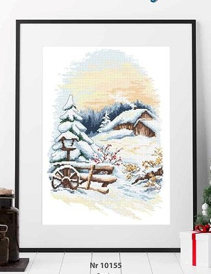 Cross Stitch Kit Embroidery Homfun Craft Bears Cross Stich Painting Joy Sunday Christmas Decorations For Home Homefun ZZ534 image