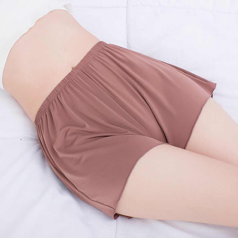 女性の夏のショート睡眠女性コンフォートセクシーなルース生き抜くホットパンツ皮カジュアルホームウェアナイトガウン