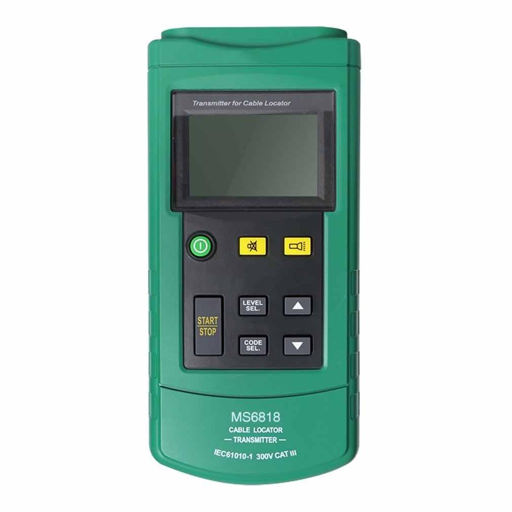 휴대용 전문 와이어 케이블 추적기 금속 파이프 로케이터 감지기 테스터 라인 트래커 전압 12 ~ 400V MS6818