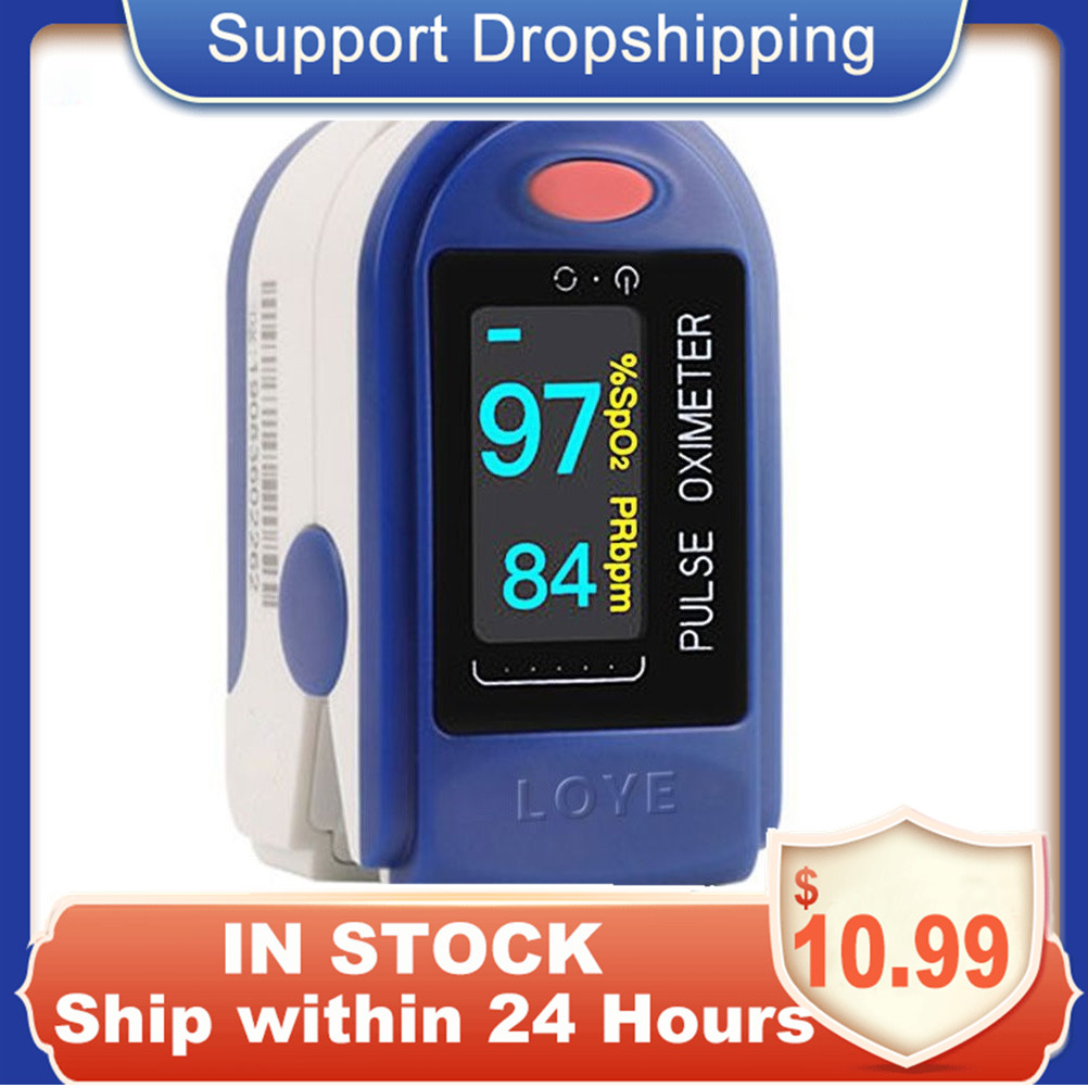 NEW Fingertip Pulse Oximeter Blood Pressure Oximetry Heart Rate Monitor SpO2 Oximetry Monitor Without Battery For Women Men Kids
