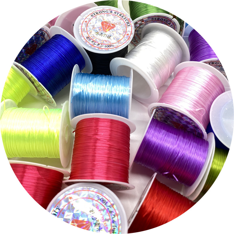 10/Roll 1mm Color Flexible Elastic Crystal Line Rope Cord For Jewelry Making Beading Bracelet Wire Fishing Thread Rope