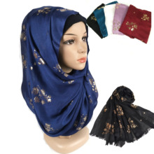 K9 10pcs High quality flower printed cotton viscose hijab shawl scarf/s