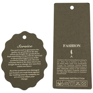 Image 3 - custom 10000pcs/lot 300GSM garment tags for clothes price label paper pricing tags labels bags cards handmade tag