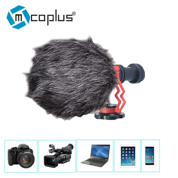Mcoplus condenser microphone mini Phone /Camera Microphone Mic for Canon sony camera ios Android Cell Phone Recording