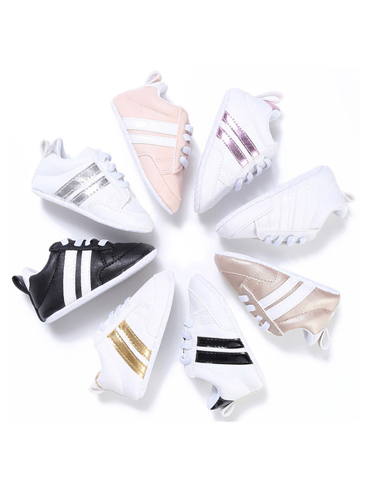 Baby Shoes Sneakers Toddlers Newborn Soft Girls Boys 0-18-Months Kids Lace-Up