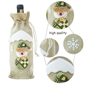 Image 4 - Последняя Рождественская бутылка вина пылезащитный чехол сумка новый год 2021 подарок на Рождество украшение для дома Санта Клаус рождественские подарки