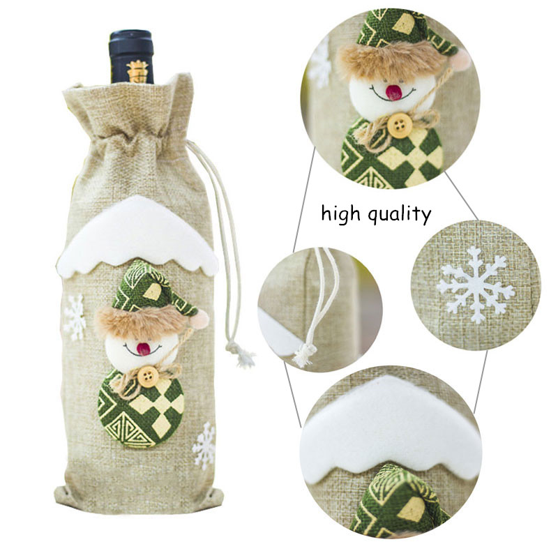 Image 4 - Latest Christmas Wine Bottle Dust Cover Bag New Year 2020 Xmas Gift Christmas Decoration for Home Santa Claus Christmas Presents-in Stockings & Gift Holders from Home & Garden