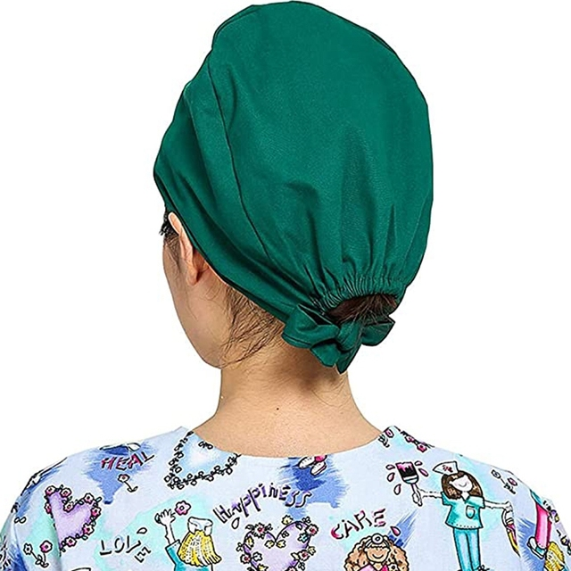 3Pc Frosted Cap Nurse Cap Work Bag Head Dust-Proof Sweat-Proof Belt Isolation Protective Cap 4