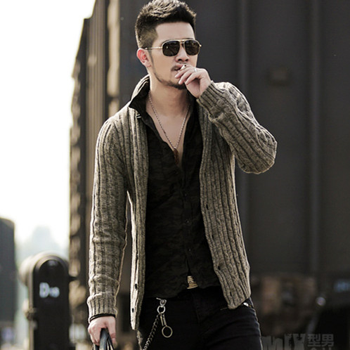 Men's Sweater Cardigan Long Sleeve Cardigan Sweater Jacket J281-2