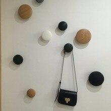 Coat Hooks Hanger Wood Wall-Decorations Key-Storage Handmade Creative Thumbtack Colorful