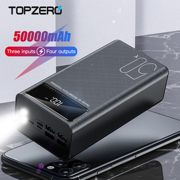 50000mAh Power Bank Double USB Fast Charging External Battery Powerbank LED Digital Display Portable Charger for iPhone 11Pro