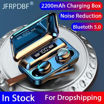 2021 nowy TWS Bluetooth 5 0 słuchawki słuchawki bezprzewodowe 9D Stereo sport wodoodporne słuchawki douszne zestawy słuchawkowe z mikrofonem duży etui z funkcją ładowania tanie i dobre opinie JFRPDBF Zaczepiane na uchu Dynamiczny CN (pochodzenie) Prawdziwie bezprzewodowe 95dB Słuchawki do monitora Do gier wideo