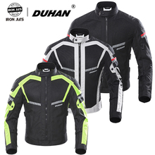 DUHAN Men Motorcycle Jackets Summer Mesh Motorbike Riding Jacket Motocross Equipment Jacket Protective Gear Five Protector Guard motorcycle jacket duhan autumn winter windproof cold proof men motocross equipment gear cotton motorbike protective jacket