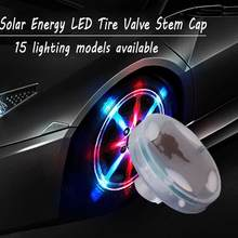 15 Mode Solar Energy LED Car Auto Flash Wheel Tire Light Cap Valve Lamp Neon V5M0(China)