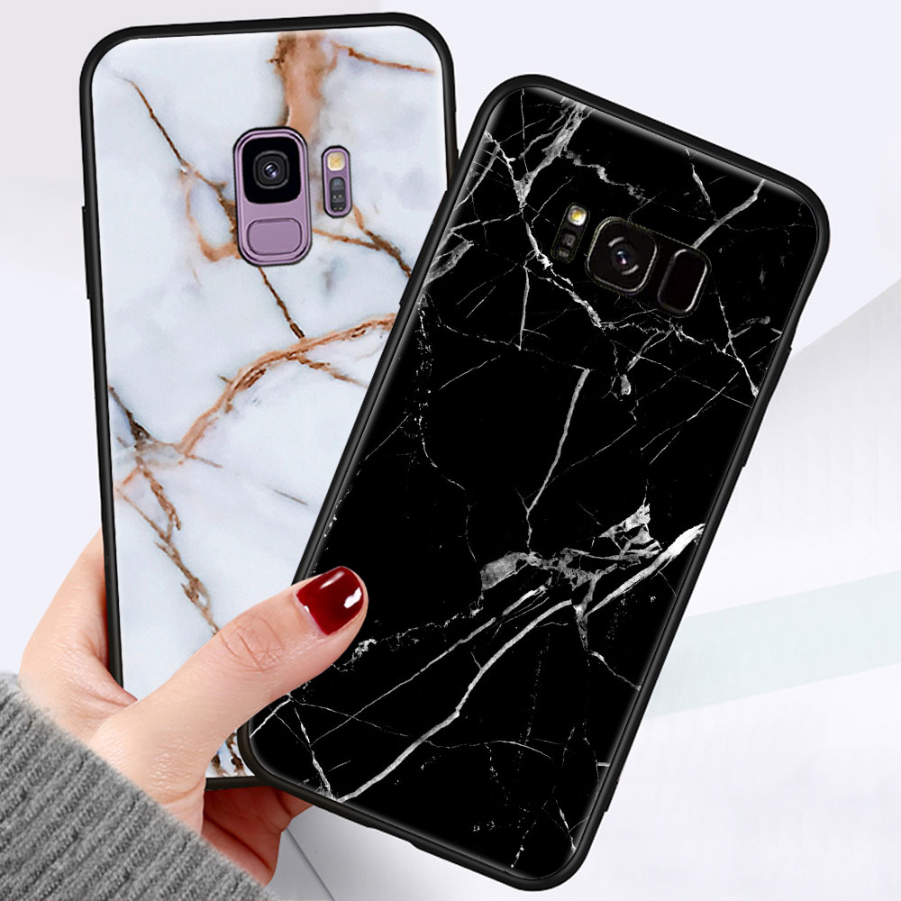 <font><b>Soft</b></font> Silicone Marble Phone <font><b>Case</b></font> for <font><b>Samsung</b></font> Galaxy <font><b>S6</b></font> S7 Edge S8 S9 S10 Note10 Plus 5G Note 8 Note9 Anti-fall Back Cover Coque image