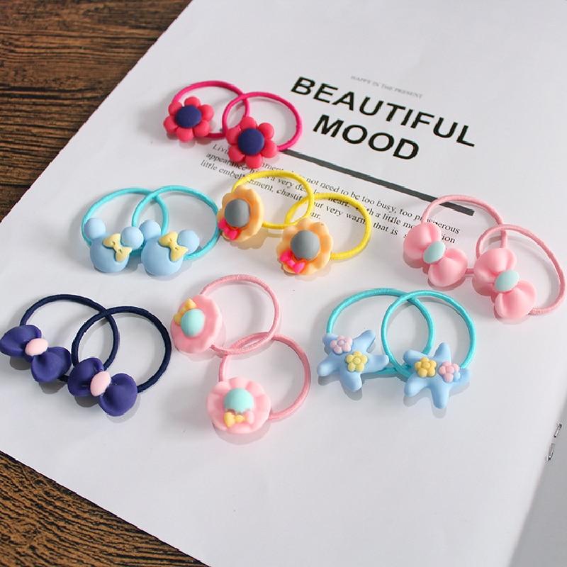 10 PCS Lovely Flower Princess Headwear Baby Headdress Girls Hair Accessories Kids Elastic Hair Bands Children Hair Ropes 3
