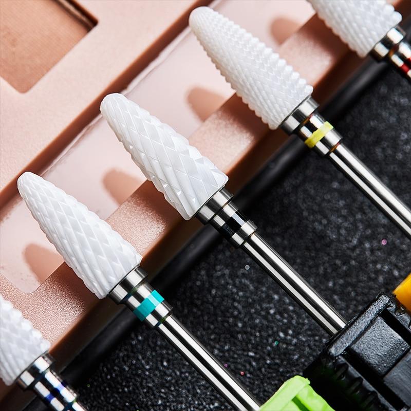 Cutter For Manicure Ceramic Nail Drill Bits Manicure Machine Accessories Rotary Electric Nail Files Manicure Nail Art Tool