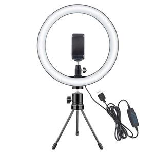 Image 4 - Светодиодный кольцевой светильник для селфи, 12 Вт, кольцевой светильник для фотостудии, для фотосъемки, со штативом, для Live видео, макияжа, Новинка