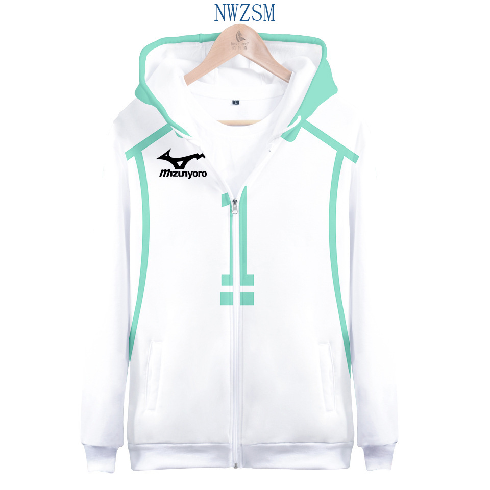 3D Selling Print Harajuku Long Sleeve Zipper Hoodie Sweatshirts Women/Men 2020 New Hot Sale Casual Haikyu!!Zipper Hoodies