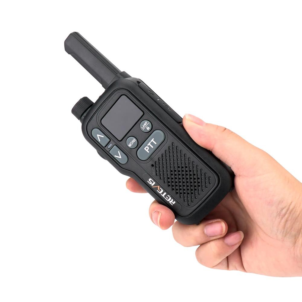 Retevis RB618 RB18 Walkie Talkie 2pcs Dual PTT PMR Radio PMR446 LCD Display FRS NOAA Two Way Radio Transceiver Walkie-talkies