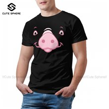Pig T-Shirt Beach Awesome 100 Cotton T Shirt Print Short Sleeves Tee Shirt Man 5xl