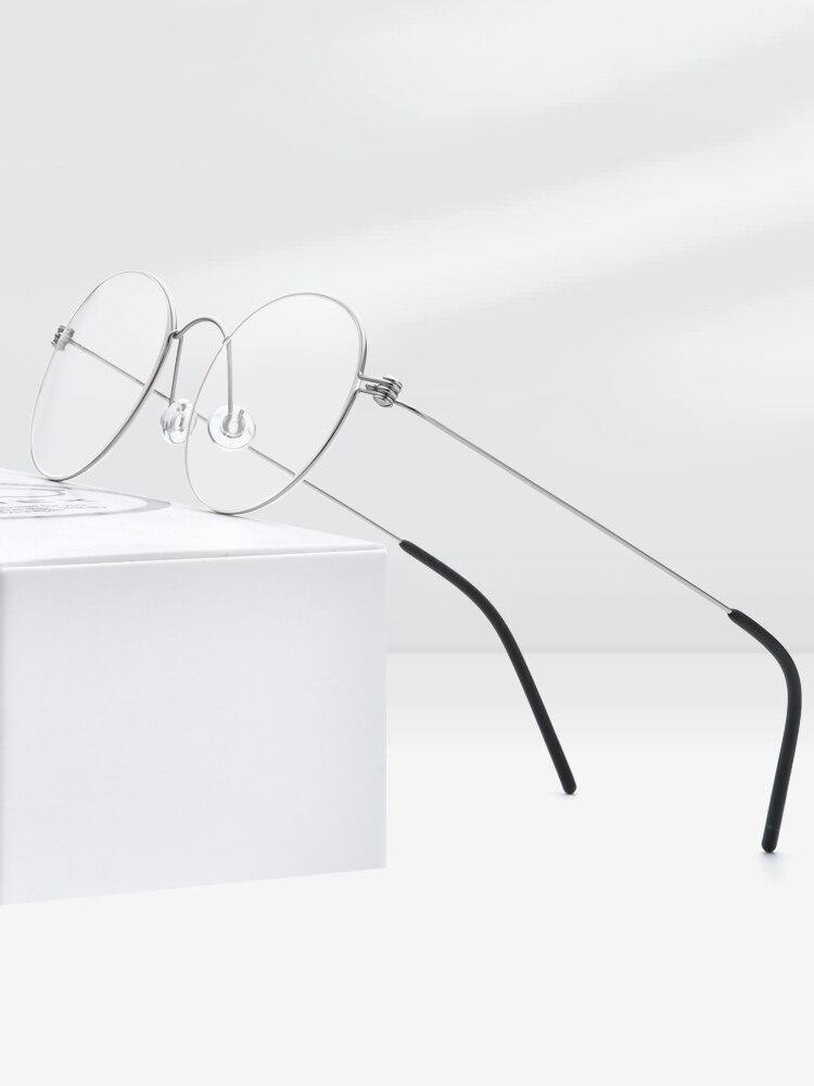 Prescription Eyeglasses Screwless Eyewear Myopia Korean FONEX Women Titanium New Morten