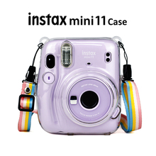 Fujifilm Instax Mini 11 anlık kamera şeffaf Instax Mini taşıma çantası çanta kristal sert kapak omuz askısı ile