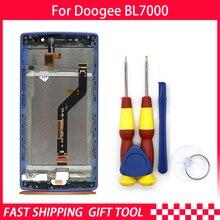 חדש מקורי עבור DOOGEE BL7000 מסך מגע LCD תצוגת Digitizer עצרת עם חלקי חילוף מסגרת + כלי