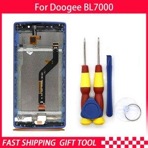 Image 1 - חדש מקורי עבור DOOGEE BL7000 מסך מגע LCD תצוגת Digitizer עצרת עם חלקי חילוף מסגרת + כלי