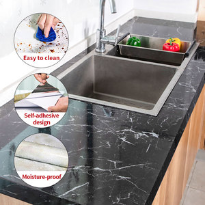 1M/2M Marble pattern wall stickers for kitchen oil and waterproof stickers high temperature resistant kitchen bar decoration