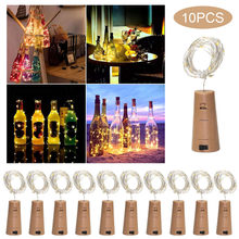 LED String Light 2M Cork Wine Bottlr Light 20 LED Fairy Lights Decoration For Bedroom Wedding Birthday Party 10 Pcs String Light