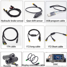 Ebike Cables for Bafang BBSHD Hydraulic Brake Sensor Gear Shift Sensor and 1T2 1T4 Connector Display Throttle Extension Cable