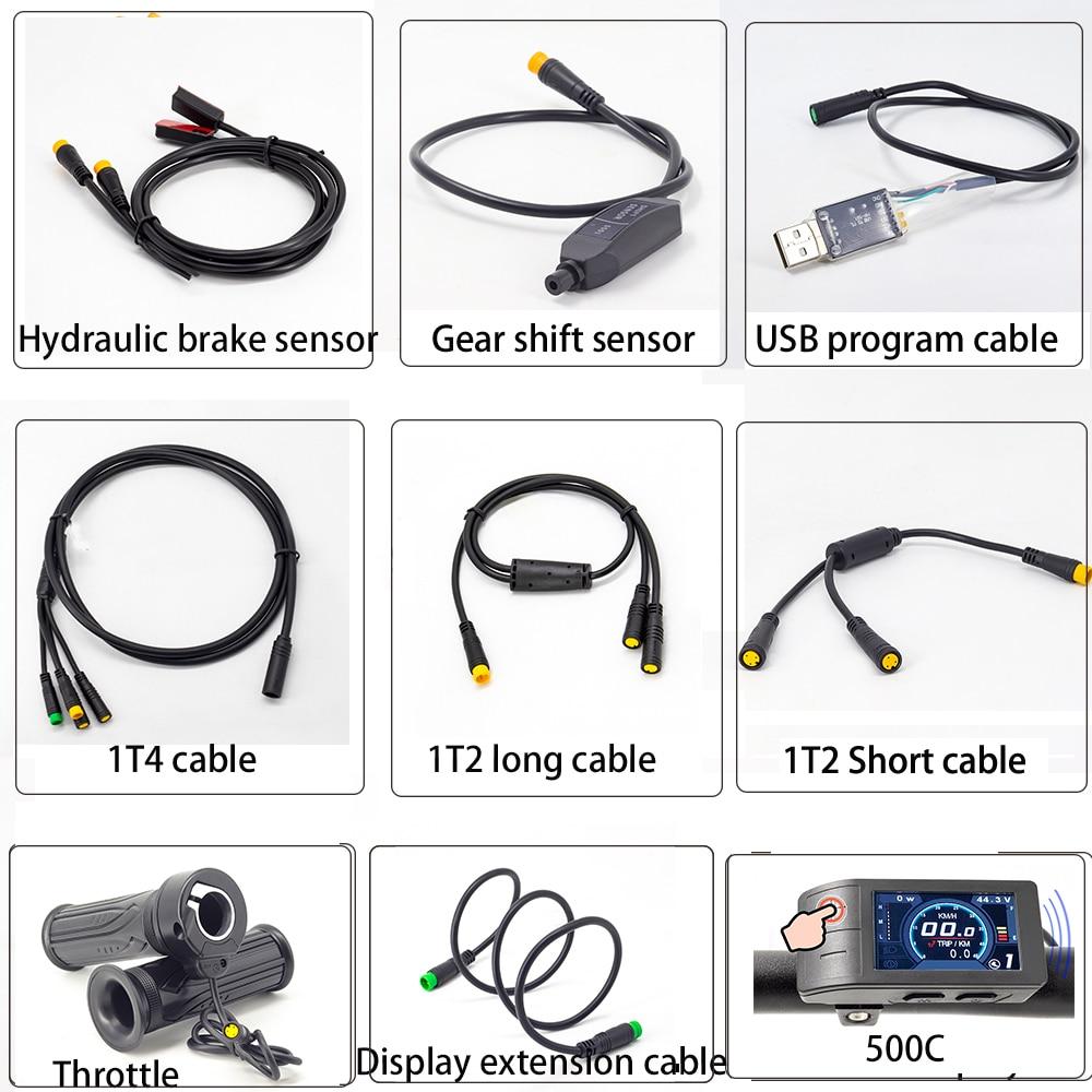 Onature Ebike кабели для Bafang гидравлическая тормозная сенсорная передача датчик переключения и 1T2 1T4 разъем дисплей дроссельной заслонки удлинит...