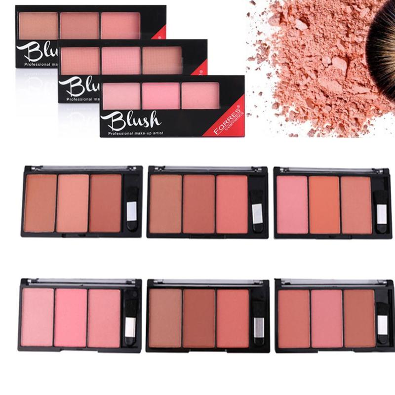 6 Colors Blush Combination Plate Baked Cheek Face Blusher Gorgeous Natural Color General Rouge Powder Palette Brightening