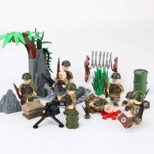 MOC City Accessories Building Blocks Military Injured Minifigs Face Heads Block Army Soldier Figures Parts toys