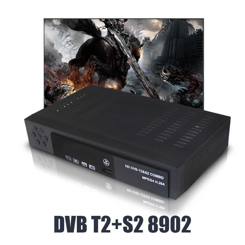 フル hd dvb T2 S2 コンボ地上デジタル衛星テレビ受信機コンボ dvb T2 S2 H.264 MPEG2/4 サポート iks シネマスコープ cccam iptv pvr