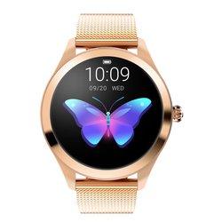 Kw10 relógio inteligente mulher 2018 ip68 à prova dip68 água monitoramento de freqüência cardíaca bluetooth para android ios pulseira de fitness smartwatch