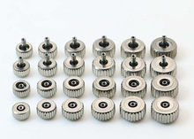 Grande diâmetro completo genérico 2.5mm da coroa 4.5mm do relógio do metal da prata ao tamanho de 7.0mm