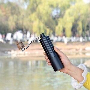 Diguo портативная кофемолка алюминиевая ручная кофемолка из нержавеющей стали шлифовальная машина коническая кофейная зерновая мельница 25 г