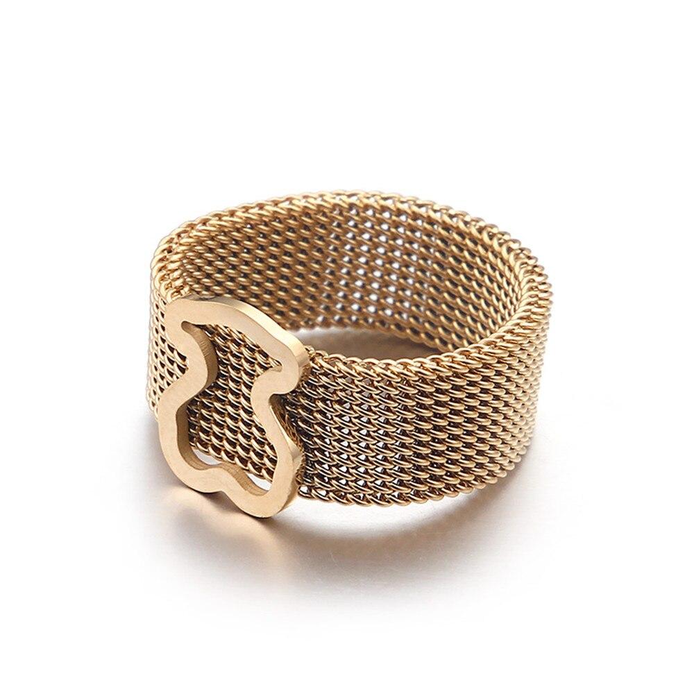 316L из нержавеющей стали медвежьи ювелирные кольца новые ювелирные изделия для женщин кольцо подарки роскошный дизайн по самой низкой цене